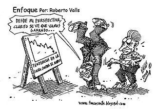 Cartoon on tendencias en la lcha contra el narco