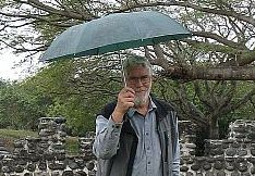 Brother John in the rain