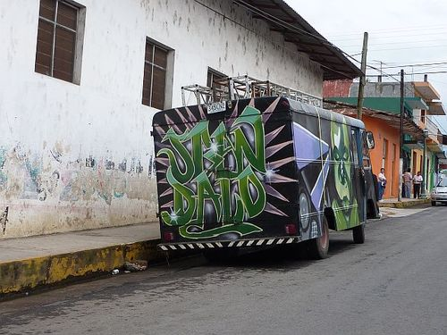 Well-painted truck
