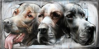 Three-headed-dog-street-art-by-best-ever
