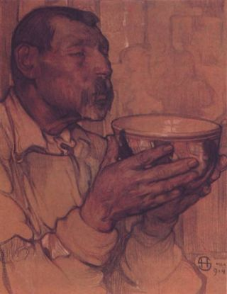 El bebedor drawing 1913
