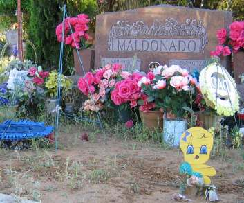Charlotte And Jourdanton Texas Gravesite With Easter Decorations